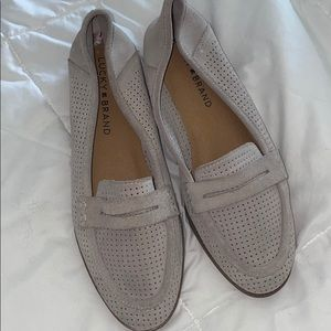 Lucky Brand suede loafers